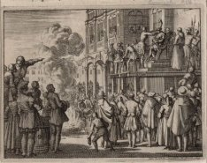 Oproer der Wederdopers bij het Oude Stadhuis op de Dam