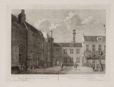 Gezicht van het West-Indisch-Huys, op de Binnen plaats te zien, tot Amsterdam