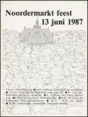 Affiche voor het Noordermarktfeest op zaterdag 13 juni 1987