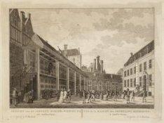 Gezicht van het Jongens Burger-Weeshuys, tot Amsterdam. Vue de la Maison des Orp…