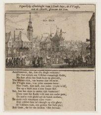 Figuerlijcke afbeeldinghe van 't Stadt-huys, de VVaegh, ende de Marckt, genaemt …