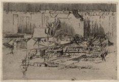 Slatuinenpad ter hoogte van de Krommert, gezien vanuit het huis van de kunstenaa…