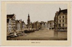 De Binnen Amstel gezien naar Munttoren en het Sophiaplein