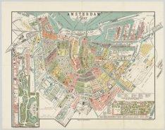 Amsterdam 1887 (recto); Platte Grond van Amsterdam in 1887 (verso)