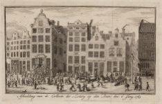 Afbeelding van de Collecte der Loterij op den Dam den 6 Juny 1763. Datering voor…