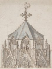 Ontwerptekening van de toren van de Nieuwe Kerk