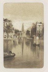 's-Gravelandse Veer 10, Groenburgwal 73 gezien vanaf de Amstel en in het midden …