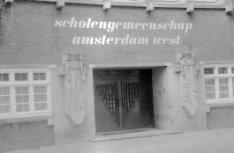 Postjesweg 1, ingang van de scholengemeenschap amsterdam-west