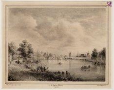 De Amstel gezien in noordelijke richting naar de Hogesluis