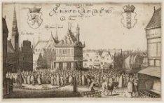 Den Dam en Markt tot Amstelredam Omtrent 't Jaar 1570