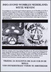 Info-avond Wombles Nederland: Witte Wieven! in de Molli: Van Ostadestraat 55