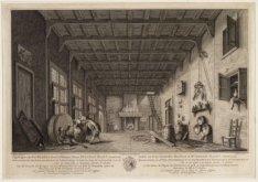 Een scene uit de opera De Kuiper, in de Schouwburg op de Keizersgracht. Techniek…