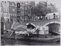 Filmopname in Amsterdamse gracht