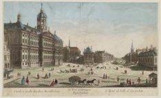 80e vue d'optique représentant l'Hotel de Ville d'Amsterdam