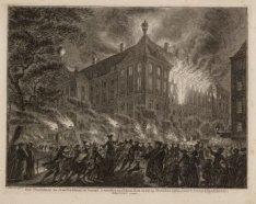 Het Stadhuis te Amsteldam in brand, 's nachts tusschen den 12 en 13 october 1762…