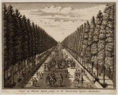 Gesigt de Malie Baen geleege in de Diemermeer buyten Amsterdam