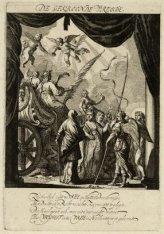 De gekroonde vreede, een van de zes vertooningen die op de schouburg, door goet-…