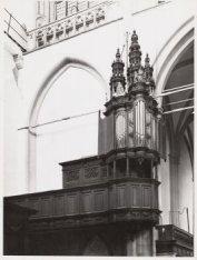 Interieur, Nieuwe Kerk, Dam 12. Het kleine orgel