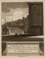 Afbeelding van de militaire hoofdwacht op de Jan Rodepoortstorensluis, te Amster…