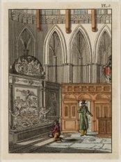 Het interieur van Nieuwe Kerk. Gezicht in het koor met het praalgraf van Michiel…