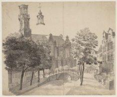 De Westerkerk, gezien vanaf de Rozengracht