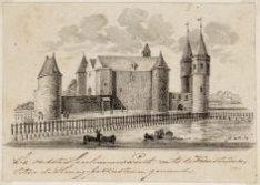 De oudste Haarlemmer Poort met de Kruistoren | later de Haringpakkerstoren genaa…
