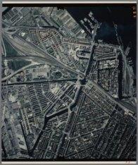 Luchtfoto van een deel van de grachtengordel