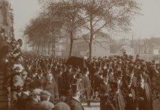Begrafenis van opperrabbijn dr. Joseph Hirsch Dünner (1833-1911)