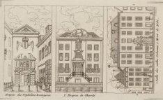 Verzamelprent van het Burgerweeshuis, Kalverstraat 92; Het Brants-Rushofje, Nieu…