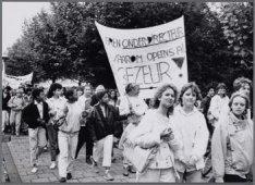 Albert Plesman MAVO. Leerlingenprotest