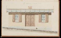 Marktmeestershuisje, Prinsengracht, hoek Elandsgracht. Zijopstand, schaal 1: 50,…