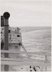 De tanker ms. Kirkouk in volle zee