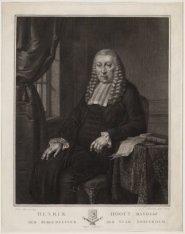 Portret van Hendrik Danielsz. Hooft (1716-1794), schepen en burgemeester van Ams…