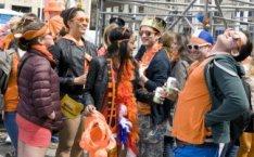 Koninginnedag/Kroningsdag 2013. Inhuldiging van koning Willem-Alexander. Feestvi…