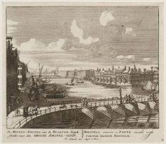 De Binnen-Amstel, van de Blaauwe-brugh siende; naar den Groote Amstel-Sluis