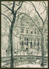 Het dubbele huis Keizersgracht 198 hoek Westermarkt, getekend kort voor de sloop…