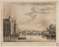 Gezicht van het Diaconie Weeshuys, te Amsterdam - Vue de la Maison des Orphelins…