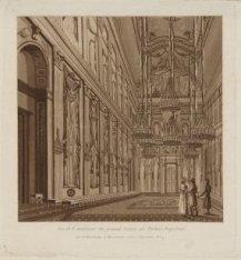 Vue de l'intérieur du grand Salon du Palais Impérial