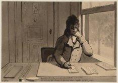 Portret van tekenaar Christiaan Andriessen (1775-1846)