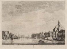 De Nieuwevaart met rechts De Oosterkerk, Wittenburgergracht gezien in westelijke…