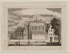 Het Sint Ursulaklooster in 1544 (afgebroken in 1596)
