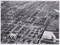 Luchtfoto van de tuinstad Geuzenveld gezien in noordoostelijke richting