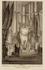 Inhuldiging van den souvereinen vorst, in de Nieuwe Kerk, te Amsterdam