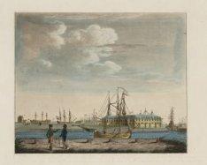 De Admiraliteitswerf van achteren te zien