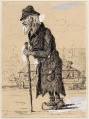 """Westerdoksdijk met det """"man uit de Ark"""" en op de achtergrond zijn ark in het Wes…"""