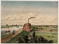 Het stoomgemaal 'De Cruquius', aan de ringvaart van de Haarlemmermeerpolder nabi…