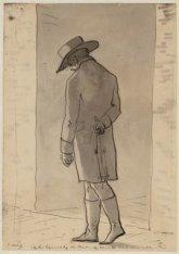 Portret van tekenaar Christiaan Andriessen(1775-1846). Dagboekblad