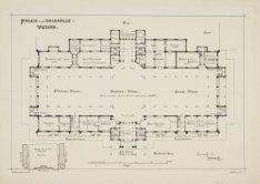 Plattegrond van het Paleis voor Volksvlijt (Parterre). Verbouwingsplan tot Beurs…