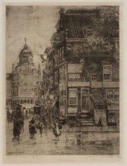 Hoekhuis Keizersgracht 764 met gezicht door de Utrechtsestraat naar het Paleis v…