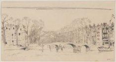Gezicht over de Amstel naar de Keizersgracht gezien naar brug 36